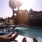 chilling @ the pool in Sofitel Marseille