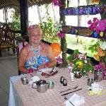 Anniversary table at breakfast
