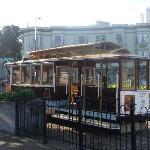 adjacent cable car to city centre