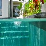 pool stairs and walkway to ourside shower