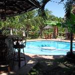 Pool area & bar.