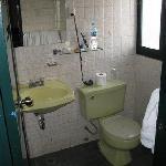 Spartan but functional bathroom
