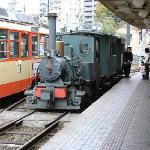 蒸気機関車の路面電車