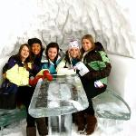 Shawn's dining room table at her igloo