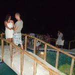 Bridge over the pool