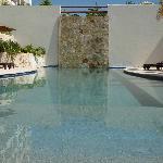 Heated saline water pools