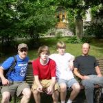 the park setting in Lund, Sweden Martin, Niklas, Erik and Mats, very warm one.