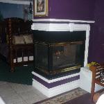 Fireplace in Garden Suite