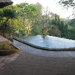 View from Beji villa pool across the valley