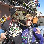 alligator head mask. everyone loved it.