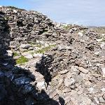 Broch (Iron Age drystone hollow-walled structure) ruin close to the B&B