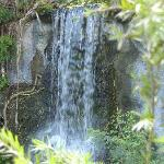 Beautiful waterfall at the Garden of the Groves