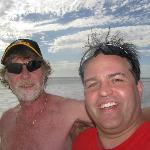 merv and I on the beach/self photo