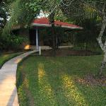 The front lawn of our cabina was huge with total privacy because of the landscaping.