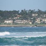 Down the street, beautiful view of Pebble Beach