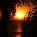 sunset taken from balcony of room 12