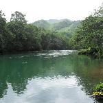 river in front of Las Marias