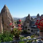 A VIEW FROM MY CAVE HOTEL IN BEAUTIFUL GOREME--(CAPADOCCIA REGION, TURKEY)
