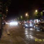 Avenue of Champs Elysees at 1am in the morning. We took a nice stroll.