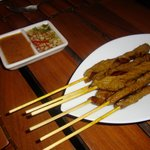 beef satay very good