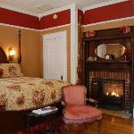 One of the Luxurious guest rooms at the Mountain Rose Inn
