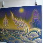 Amazing artwork in the lobby