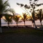 sunset towards beach