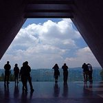 Looking out the window at Yad Vashem - the Holocaust Museum in Jerusalem. (24049547)