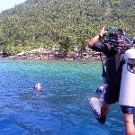 At Bunaken National Marine Park