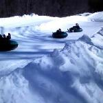 Snowtubing is super fun and fast!