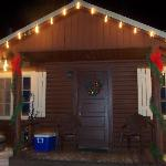 our cabin at Christmas