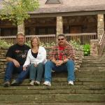 Dave, Elaine and me at old lake resort lodge on at Mt. Magazine, Arkansas.