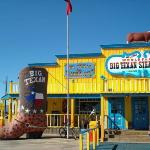The Big Texan Steak house, and the food was great, everything IS big in Texas.  Home of the 72 o