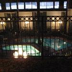 View of indoor pool area from my window (3rd floor)