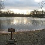 Danger - VERY thin ice on the little lake