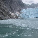 calving glacier on boat trip