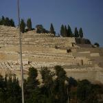 The Mount of Olives is mostly covered in graves today. (In Jesus' day it was covered in olive gr