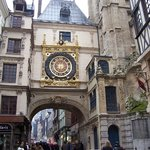 The Gros Horloge is an astronomical clock in Rouen, France.  It is located on a long pedestrian