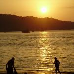 My view from the beach bar at sunset at Patong Beach -