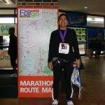 A man happy with his time:3:38:13. A personal best and 239th out of 1200 marathon runners.