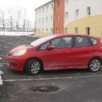 My car in the car park