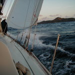 Sailing out of Coral Bay on the White Wing