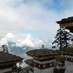 Hiking above the clouds in Bhutan