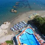 Swimming Pool & Beach Aerial Photo
