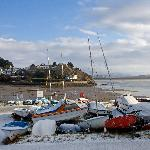 Borth y gest harbour 100 yards from Bron Afan B&B