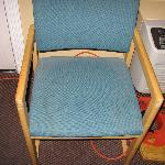 dry urine spot and dust on the chair