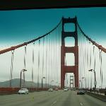 Crossing the Golden Gate Bridge on the way to Napa Valley