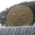 Solar Disc in front of the artisanal center in Cuzco. This representation of the Inti is the sym