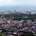高台から見える熊本城