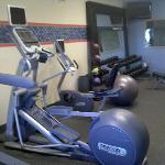Compact fitness room